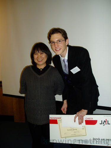 Myself and my former Japanese teacher Yuki-sensei